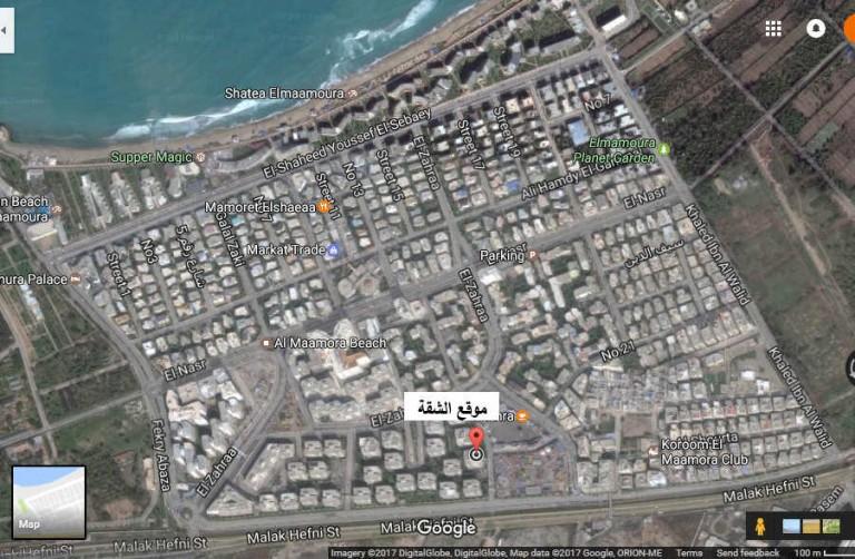 شقة بالمعمورة الشاطئ للايجار - خريطة المعمورة